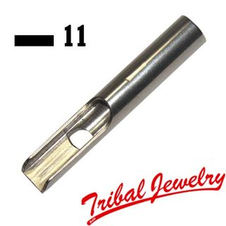 Stainless Steel Tip 11 flat / Magnum